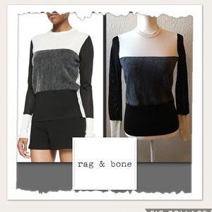 Rag & Bone Marissa Crewneck Black & Ivory Sweater